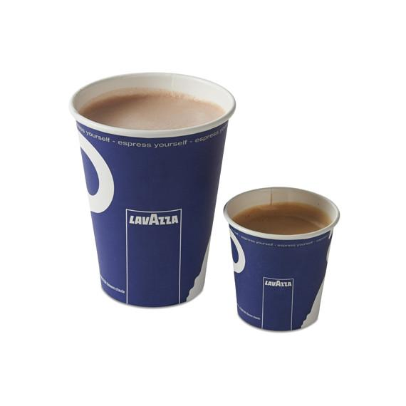 Lavazza coffee cups and lids